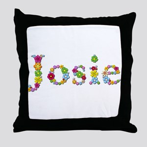 Josie Bright Flowers Throw Pillow